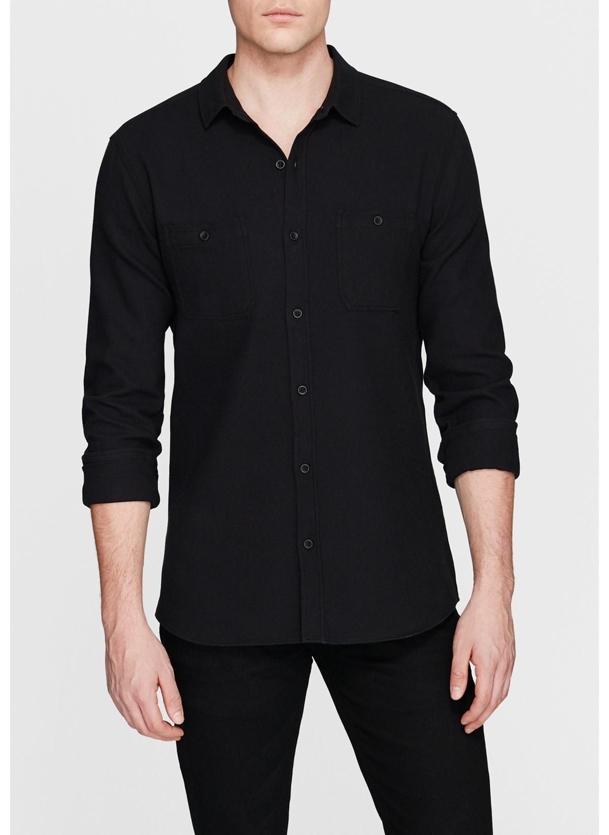 Mavi Çift Cepli Gömlek 8802020-900 Çift Cepli Siyah Gömlek – 89.99 TL